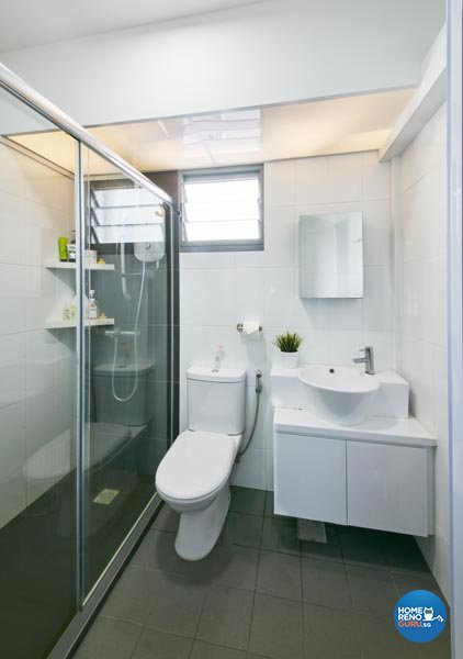 Contemporary, Minimalist, Scandinavian Design - Bathroom - HDB 4 Room - Design by Carpenters 匠
