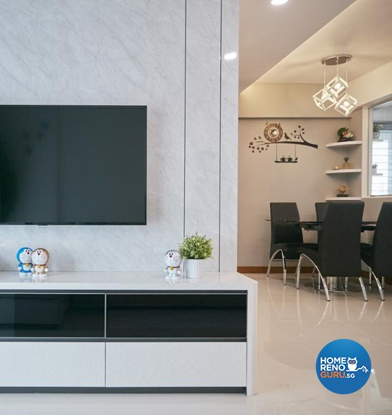 Contemporary, Minimalist, Scandinavian Design - Living Room - HDB 4 Room - Design by Carpenters 匠