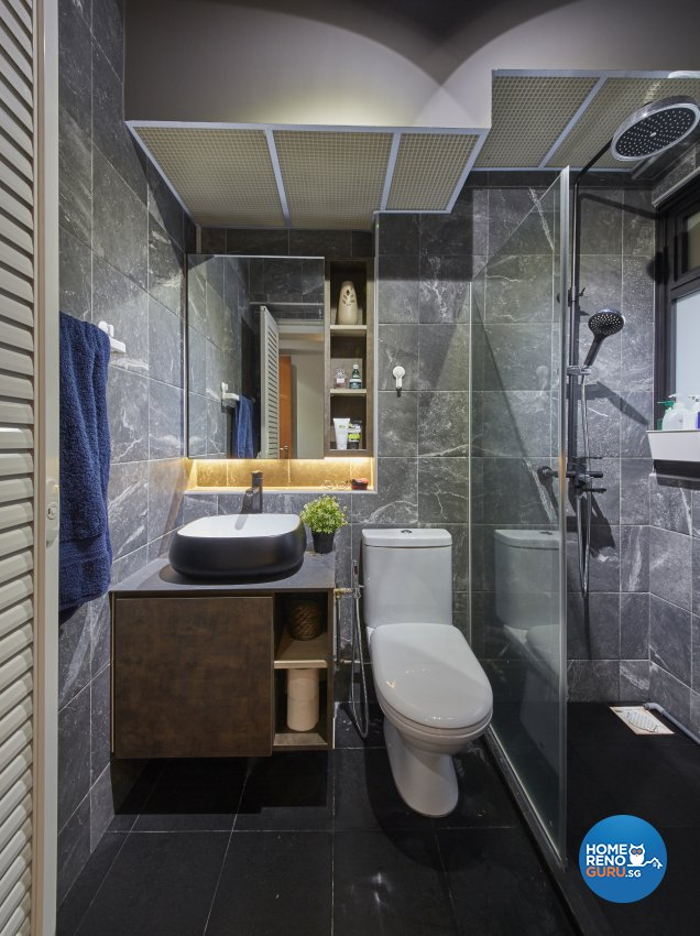 Contemporary, Eclectic, Industrial Design - Bathroom - HDB 4 Room - Design by Carpenters 匠