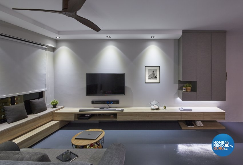 Contemporary, Eclectic, Industrial Design - Living Room - HDB 4 Room - Design by Carpenters 匠