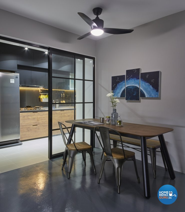 Contemporary, Eclectic, Industrial Design - Kitchen - HDB 4 Room - Design by Carpenters 匠