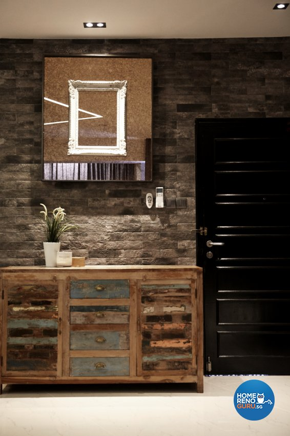 Industrial, Modern, Rustic Design - Living Room - Condominium - Design by Carpenters 匠