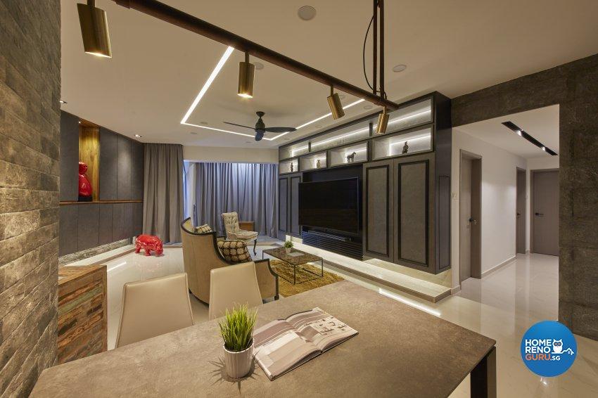 Industrial, Modern, Rustic Design - Living Room - Condominium - Design by Carpenters 匠
