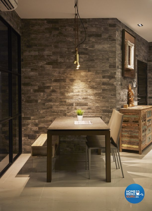 Industrial, Modern, Rustic Design - Dining Room - Condominium - Design by Carpenters 匠