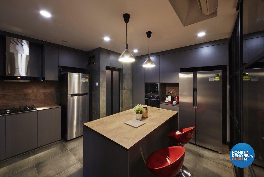 Industrial, Modern, Rustic Design - Kitchen - Condominium - Design by Carpenters 匠