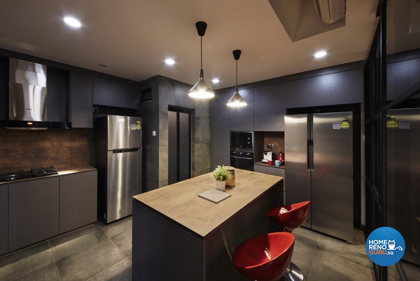 Industrial, Modern, Rustic Design - Kitchen - Condominium - Design by Carpenters 匠