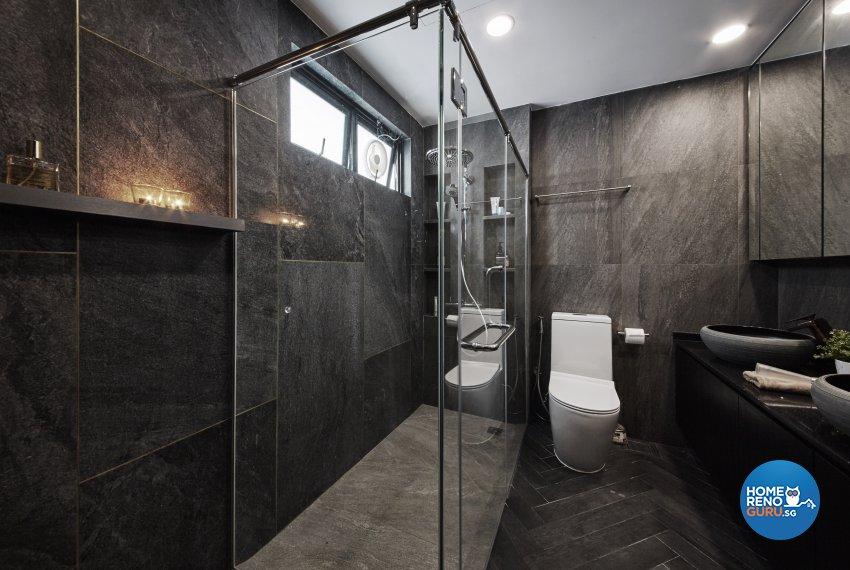 Industrial, Modern, Rustic Design - Bathroom - Condominium - Design by Carpenters 匠