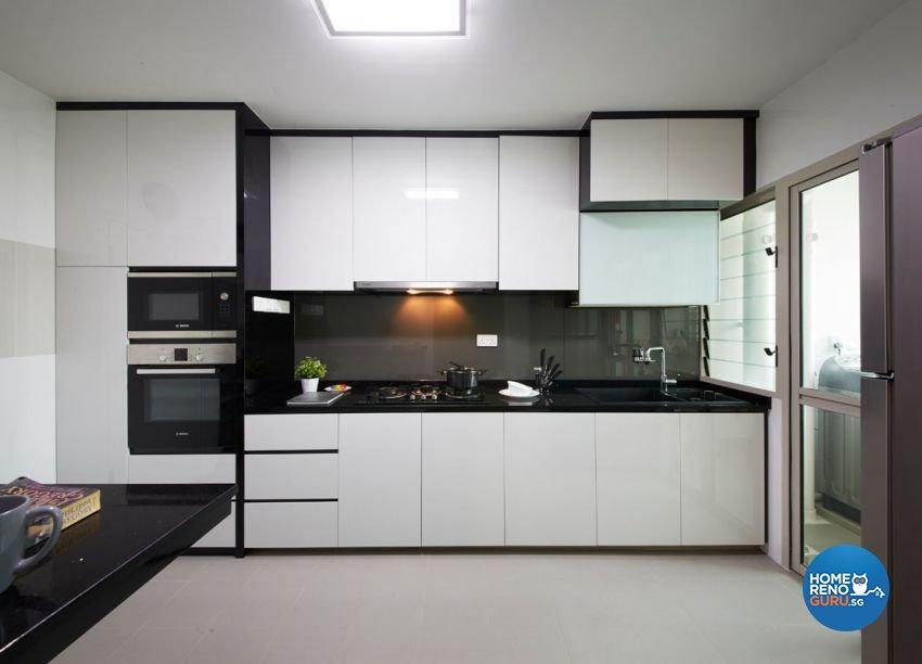 Minimalist, Scandinavian Design - Kitchen - HDB 4 Room - Design by Carpenters 匠