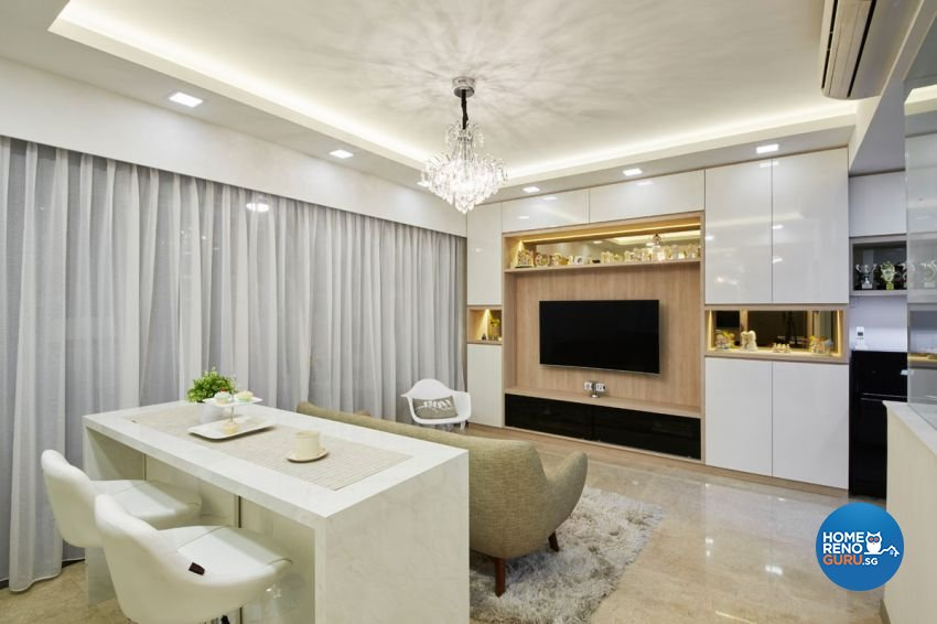 Contemporary, Minimalist, Modern Design - Living Room - Condominium - Design by Carpenters 匠
