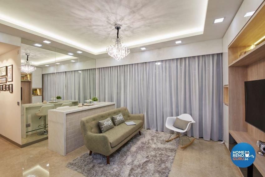 Contemporary, Minimalist, Modern Design - Living Room - Condominium - Design by Carpenters 匠