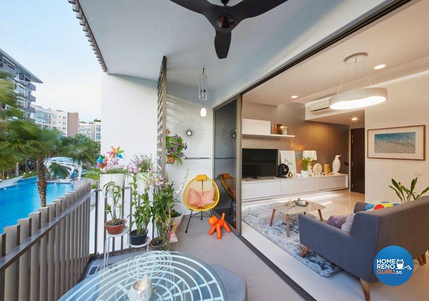 Classical, Modern, Scandinavian Design - Balcony - Condominium - Design by Carpenters 匠