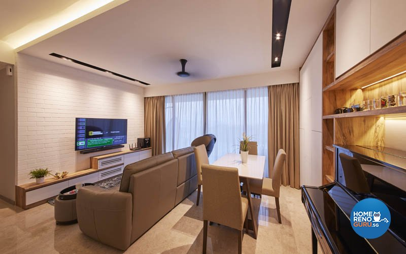 Minimalist, Modern, Scandinavian Design - Living Room - Condominium - Design by Carpenters.com.sg