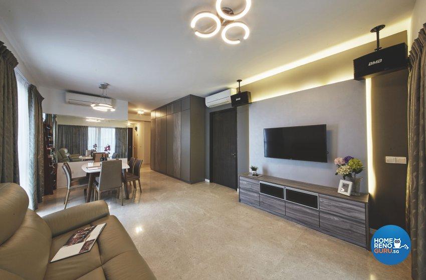 Eclectic, Industrial, Modern Design - Living Room - Condominium - Design by Carpenters.com.sg