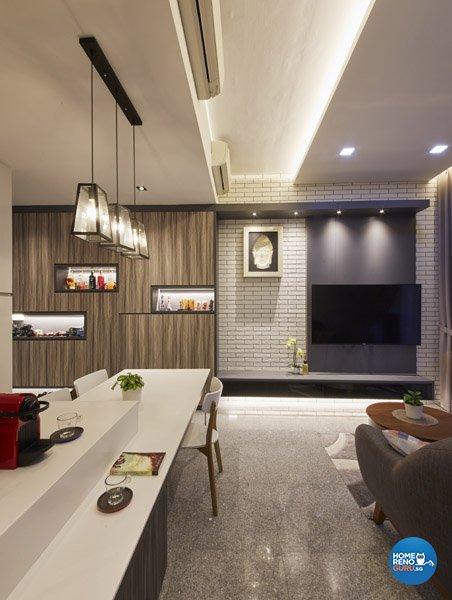Eclectic, Rustic, Scandinavian Design - Living Room - Condominium - Design by Carpenters 匠