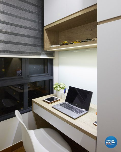 Eclectic, Rustic, Scandinavian Design - Study Room - Condominium - Design by Carpenters 匠