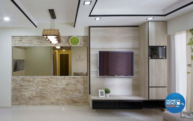 Contemporary, Modern, Scandinavian Design - Living Room - HDB 4 Room - Design by Carpenters 匠