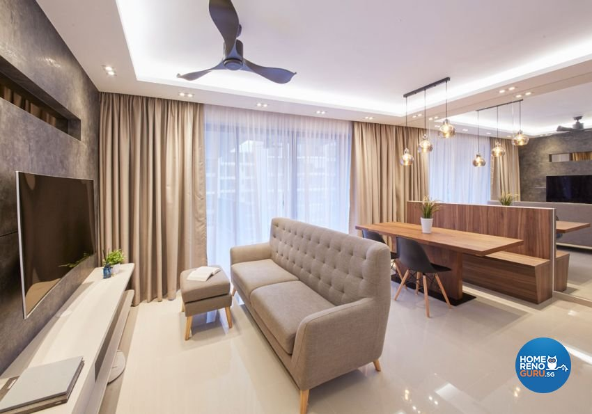 Modern, Scandinavian Design - Living Room - HDB Executive Apartment - Design by Carpenters 匠