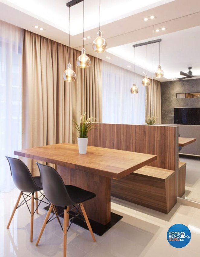 Modern, Scandinavian Design - Dining Room - HDB Executive Apartment - Design by Carpenters 匠
