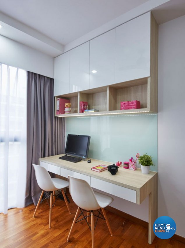 Modern, Scandinavian Design - Study Room - HDB Executive Apartment - Design by Carpenters 匠