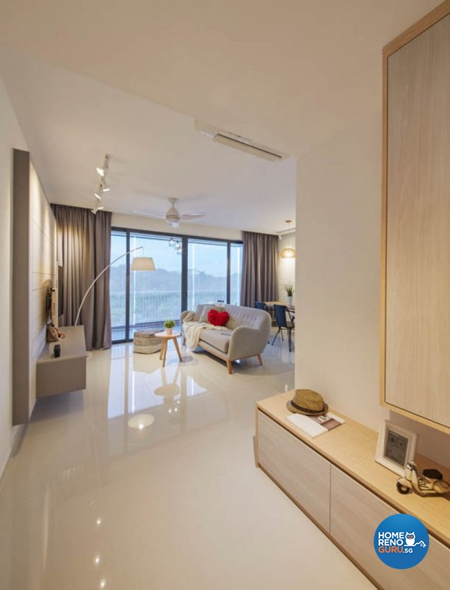 Scandinavian Design - Living Room - HDB Executive Apartment - Design by Carpenters 匠