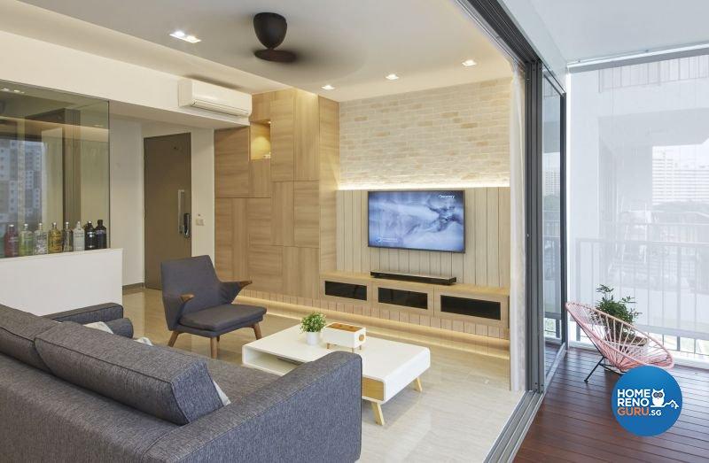 Contemporary, Minimalist Design - Living Room - Condominium - Design by Carpenters 匠