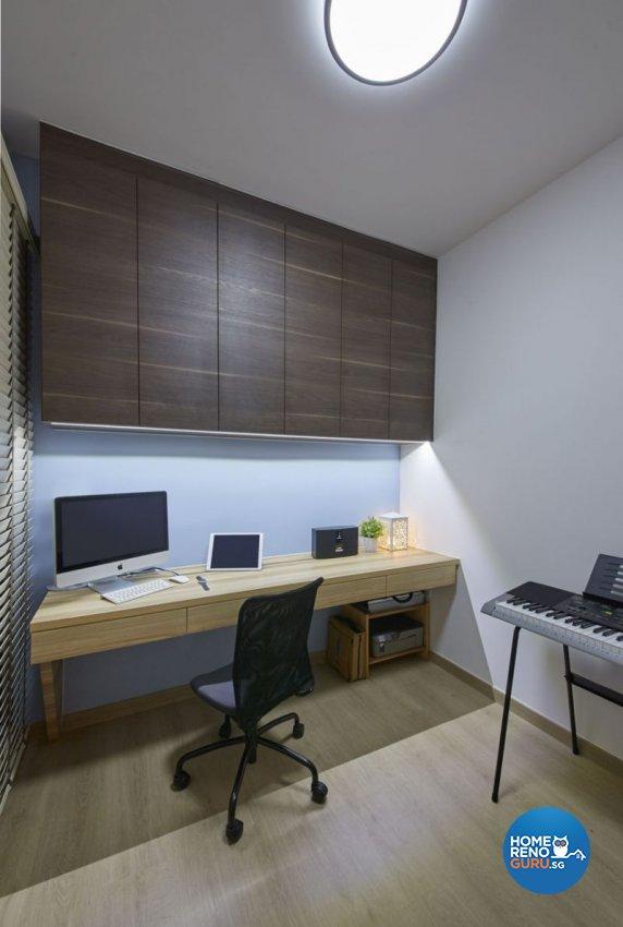 Contemporary, Minimalist Design - Study Room - Condominium - Design by Carpenters 匠