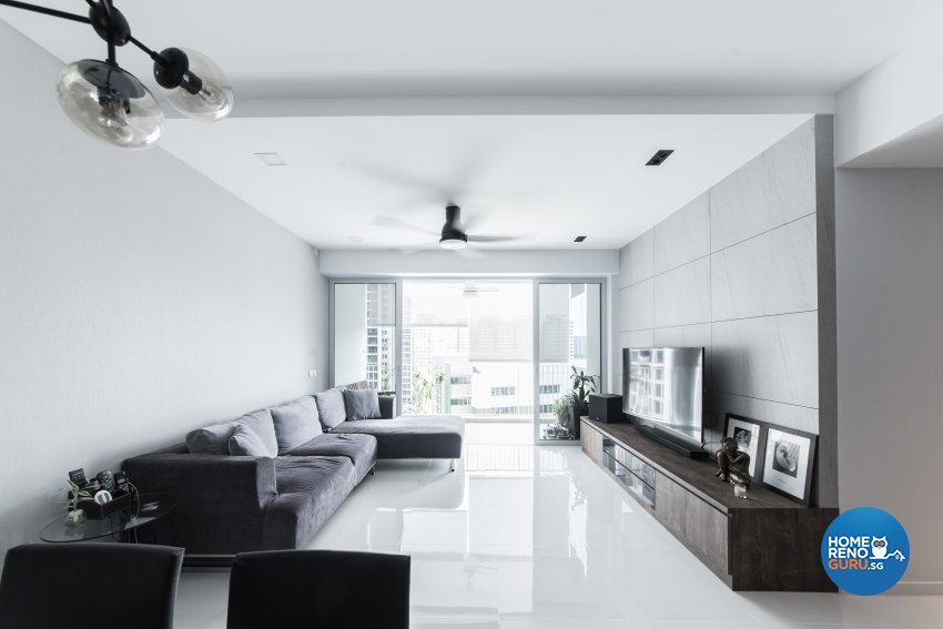Industrial, Modern Design - Living Room - Condominium - Design by Carpenters 匠