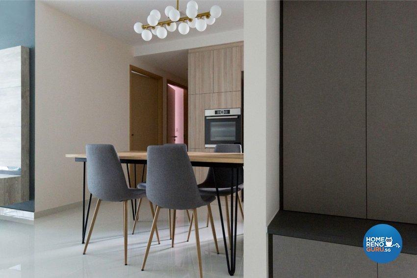 Minimalist, Scandinavian Design - Dining Room - Condominium - Design by Carpenters 匠
