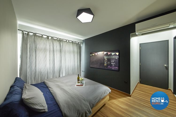 Eclectic, Modern Design - Bedroom - HDB 4 Room - Design by Carpenters 匠