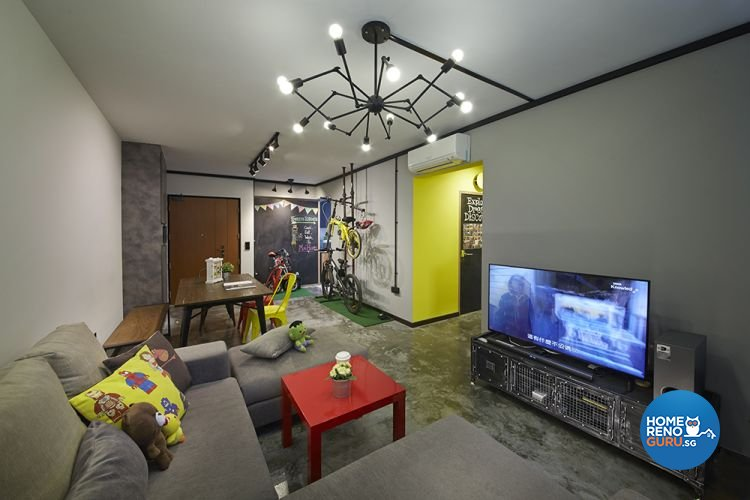 Eclectic, Modern Design - Living Room - HDB 4 Room - Design by Carpenters 匠