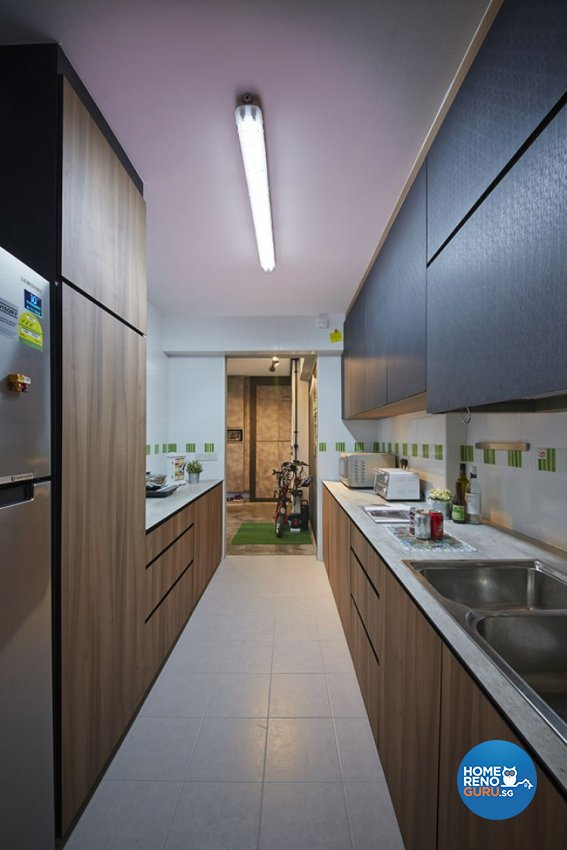 Eclectic, Modern Design - Kitchen - HDB 4 Room - Design by Carpenters 匠