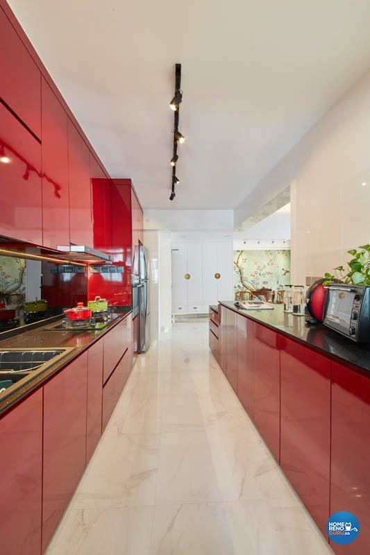 Contemporary, Modern Design - Kitchen - HDB 4 Room - Design by Carpenters 匠