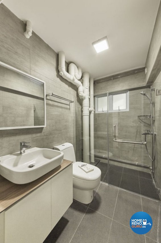 Minimalist, Scandinavian Design - Bathroom - HDB 5 Room - Design by Carpenters 匠