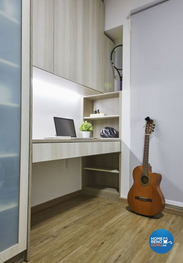 Minimalist, Scandinavian Design - Study Room - HDB 5 Room - Design by Carpenters 匠