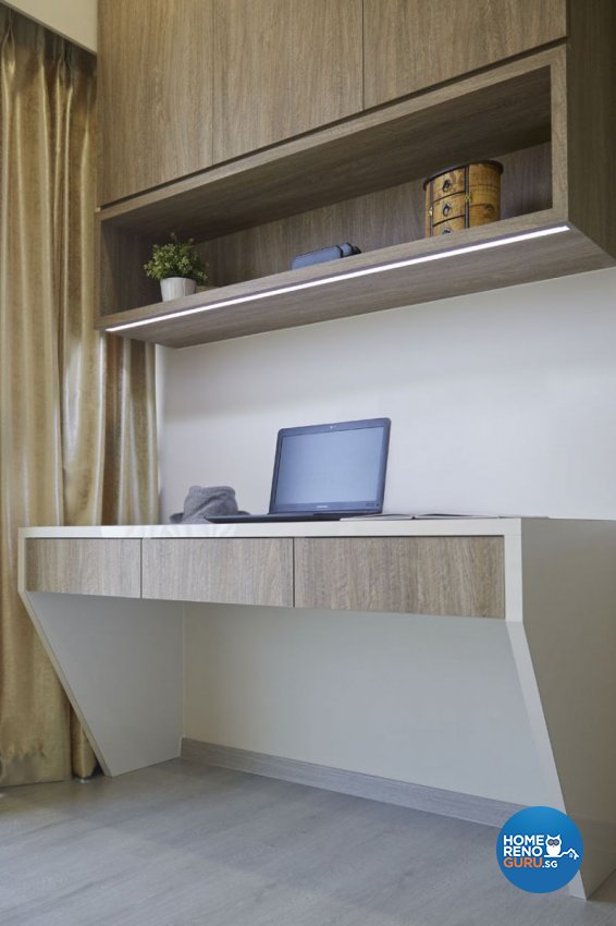 Contemporary, Modern Design - Study Room - HDB 4 Room - Design by Carpenters 匠