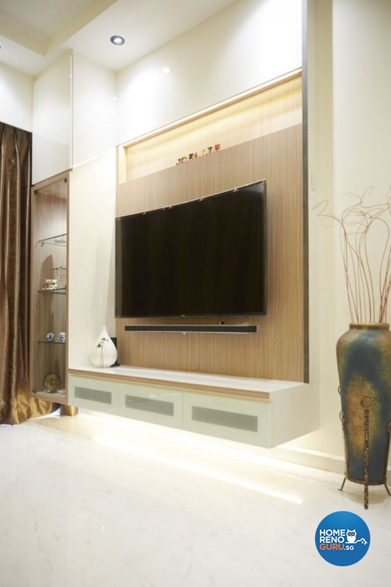Contemporary, Modern Design - Living Room - HDB 4 Room - Design by Carpenters 匠