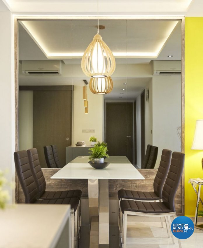 Contemporary, Modern Design - Dining Room - HDB 4 Room - Design by Carpenters 匠
