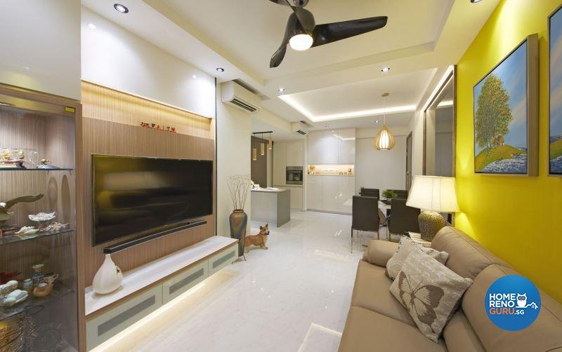 Contemporary, Modern Design - Living Room - HDB 4 Room - Design by Carpenters 匠