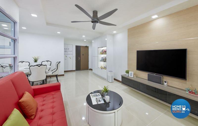 Classical, Minimalist, Modern Design - Living Room - HDB 4 Room - Design by Carpenters 匠