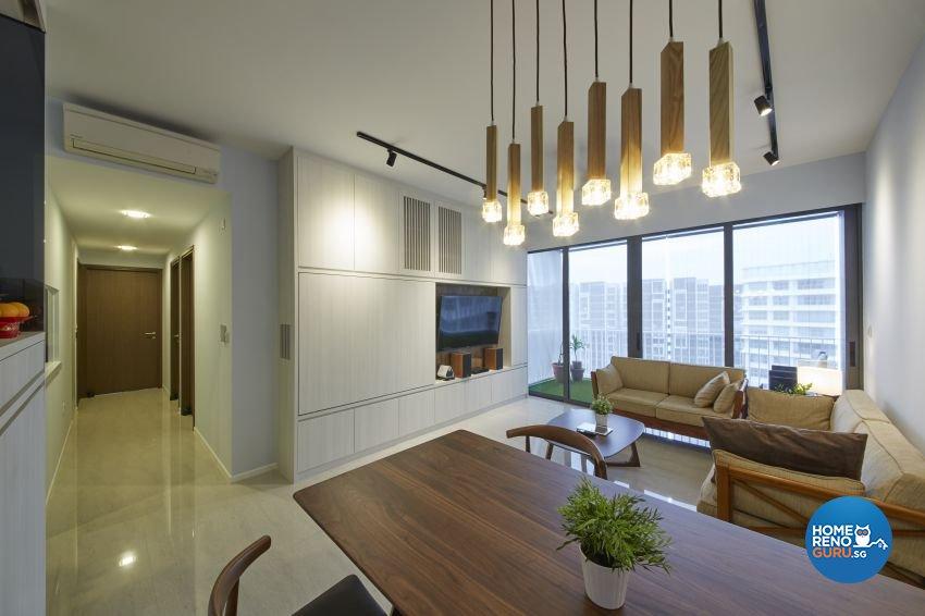 Scandinavian, Tropical Design - Dining Room - HDB 3 Room - Design by Carpenters 匠