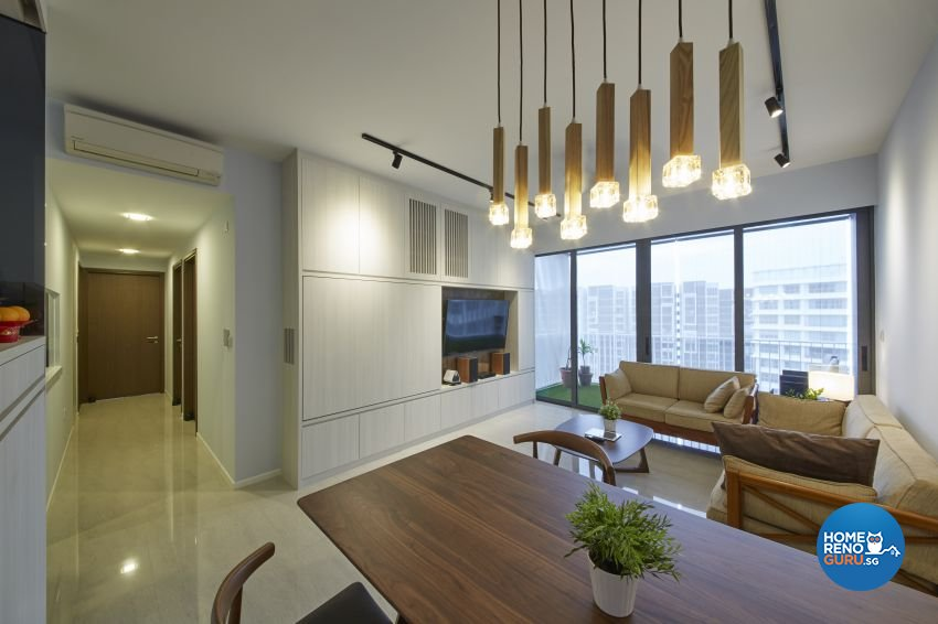 Scandinavian, Tropical Design - Dining Room - HDB 3 Room - Design by Carpenters 匠