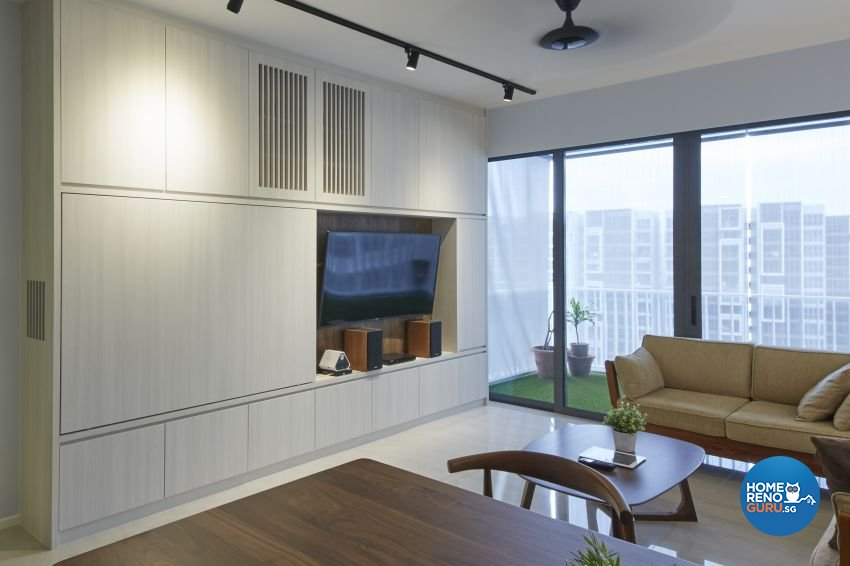 Scandinavian, Tropical Design - Living Room - HDB 3 Room - Design by Carpenters 匠