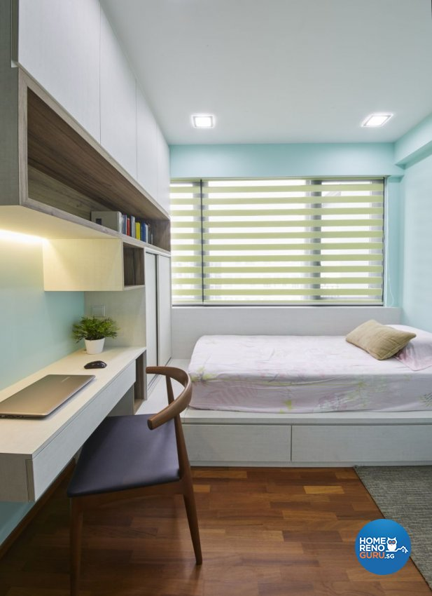 Scandinavian, Tropical Design - Bedroom - HDB 3 Room - Design by Carpenters 匠