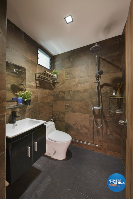 Minimalist, Scandinavian Design - Bathroom - HDB 5 Room - Design by Carpenters 匠