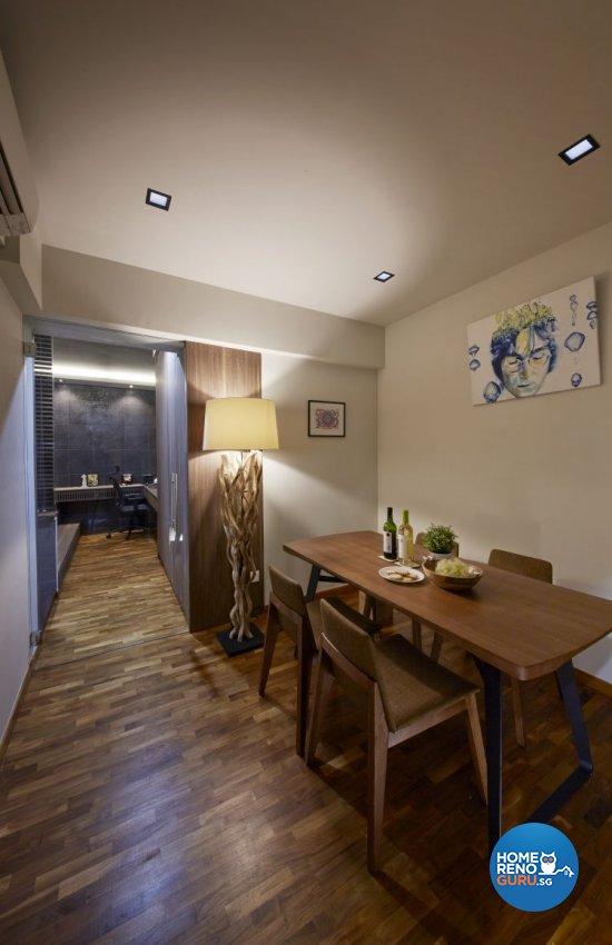Minimalist, Scandinavian Design - Dining Room - HDB 5 Room - Design by Carpenters.com.sg 匠
