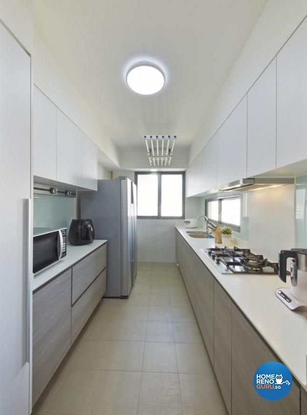 Minimalist, Modern, Scandinavian Design - Kitchen - HDB 4 Room - Design by Carpenters 匠