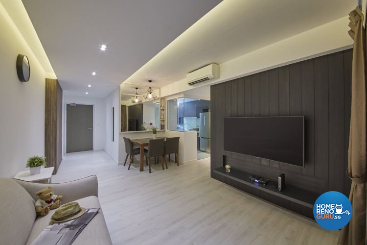 Contemporary, Minimalist, Modern Design - Living Room - HDB 4 Room - Design by Carpenters 匠