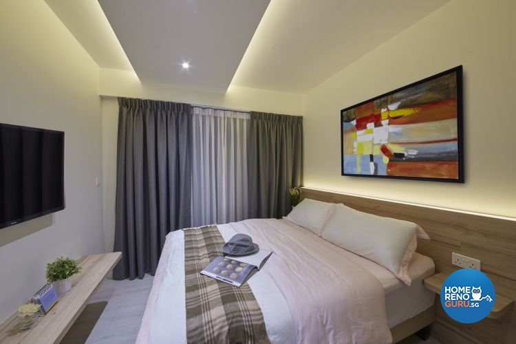 Contemporary, Minimalist, Modern Design - Bedroom - HDB 4 Room - Design by Carpenters 匠
