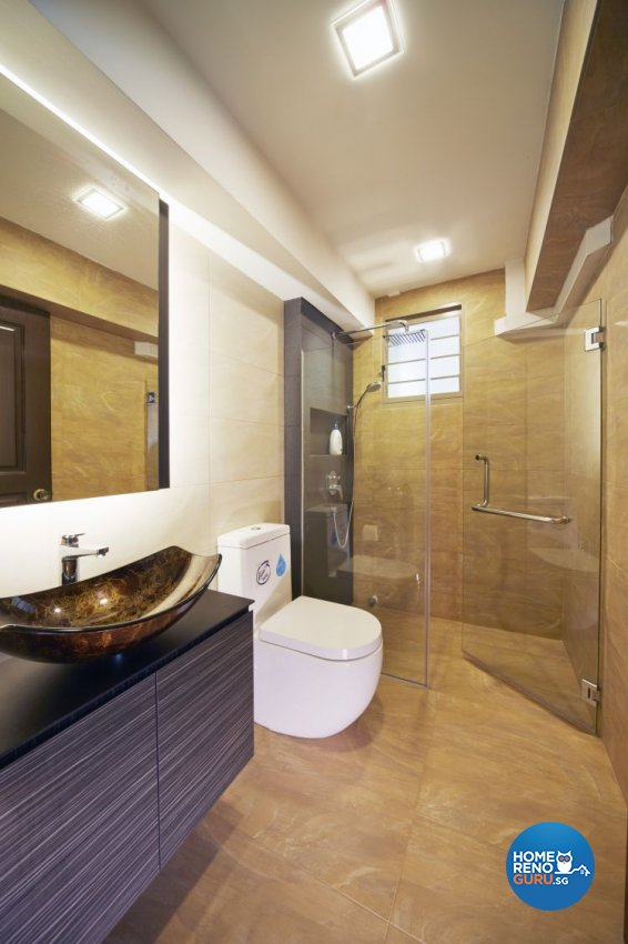 Contemporary, Modern Design - Bathroom - HDB 4 Room - Design by Carpenters 匠