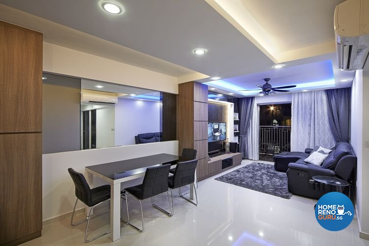 Contemporary, Modern Design - Dining Room - HDB 5 Room - Design by Carpenters 匠
